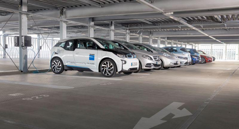 E-Mobility, Elektroauto, Trumpf, Parkhaus