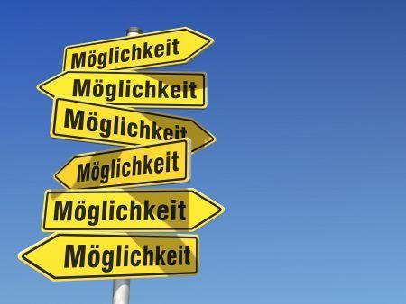möglichkeiten, chancen, leben, perspektiven, nutzen, beruf, entscheidung, business, zukunft, job, entdecken, weg, richtung, wege, perspektive, grafik, wegweiser, schilder, illustration, möglichkeit, chance, hintergrund, werbung, zeigen, abbildung, ausbildung, lebensweg, entscheiden, symbol, bildlich, auswahl, erfolg, metapher, symbolisch, symbolbild, erfolgreich, freiraum, mut, machen, himmel, selbstvertrauen, entdecke, blau, gelb, abstrakt, textfreiraum, schrift, wort, text, leerraum